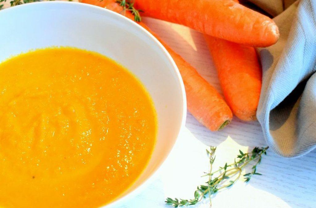 Romige wortelsoep
