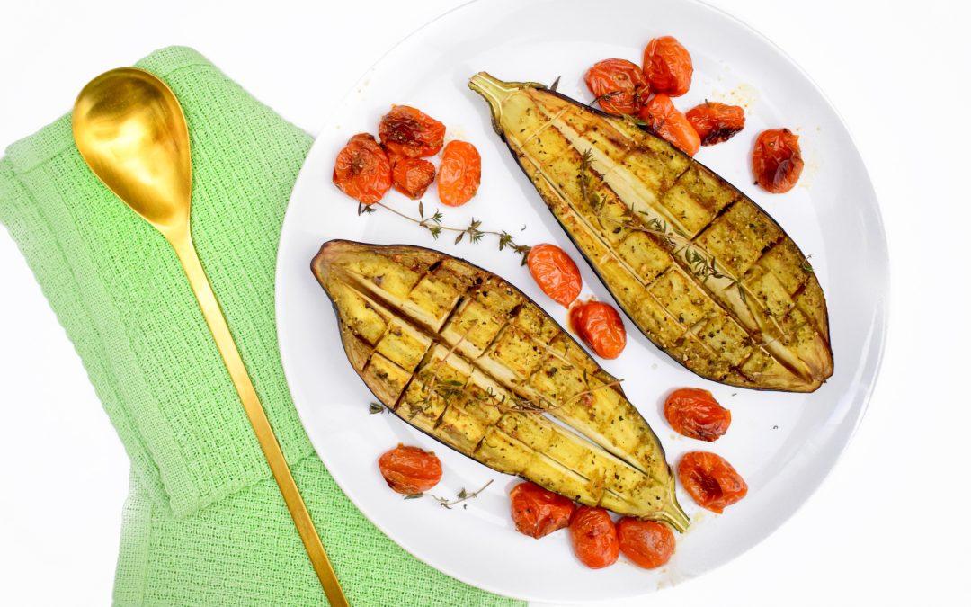 Pesto aubergine uit de oven | Healthy Wanderlust