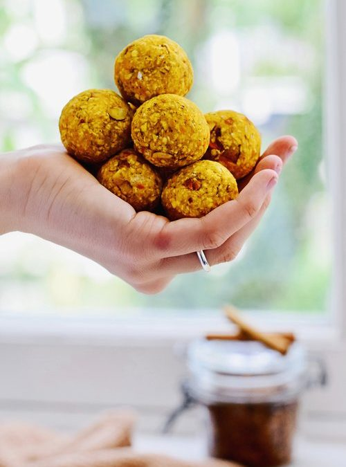 PUMPKIN LATTE BLISS BALLS