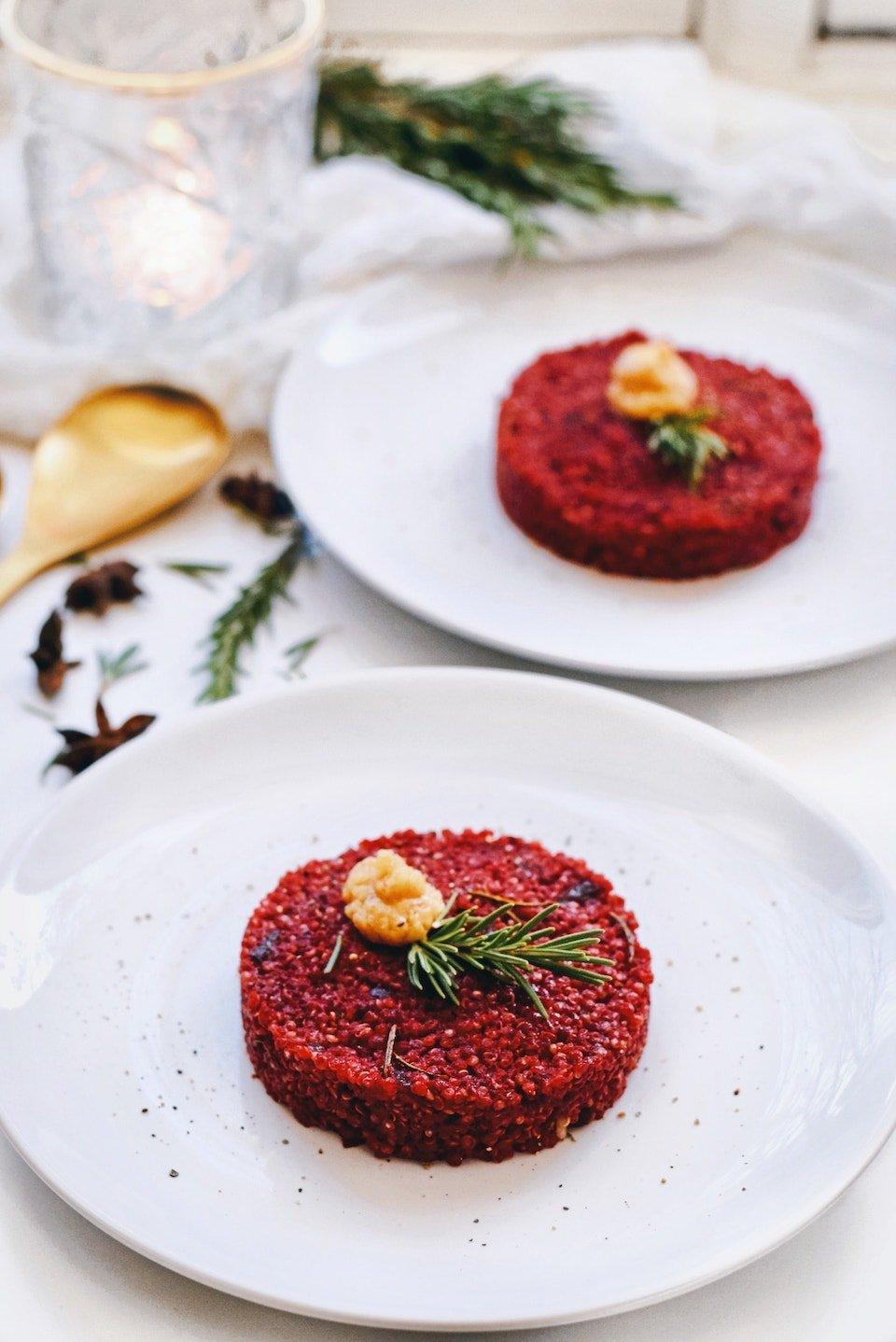 Kerst voorgerecht   Rode bieten tartaat   Vegetarisch kerst recept