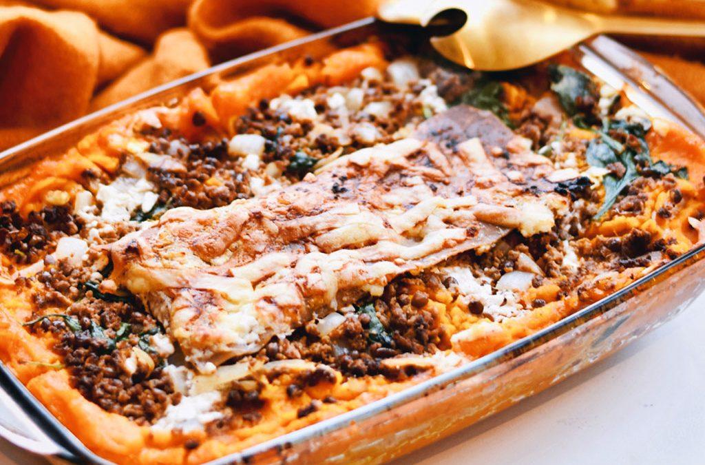 Vegetarische lasagne met pompoen en spinazie   Vegetarisch recept