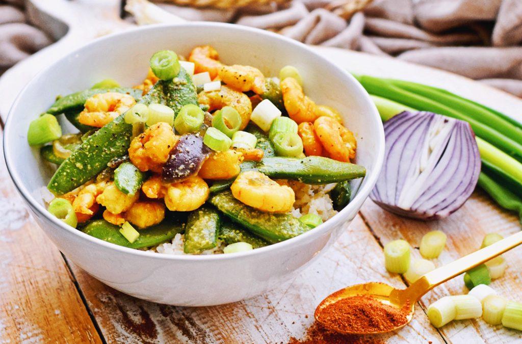 Makkelijke garnalen curry | Lekker recept | Healthy Wanderlust
