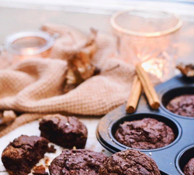 HEALTHY SNACK | VEGAN CHOCOLATE MUFFINS