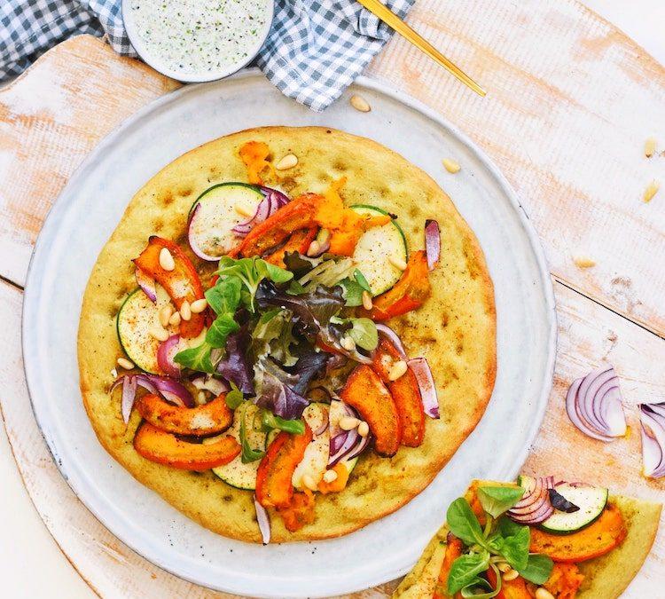 Gezonde pizza met geroosterde pompoen | Magioni pizza