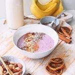 Aardbei banaan smoothie bowl