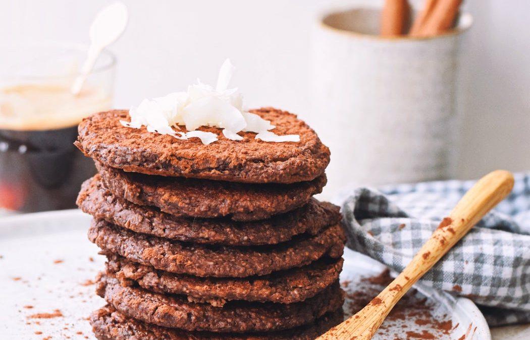 Vegan chocolade pannenkoeken