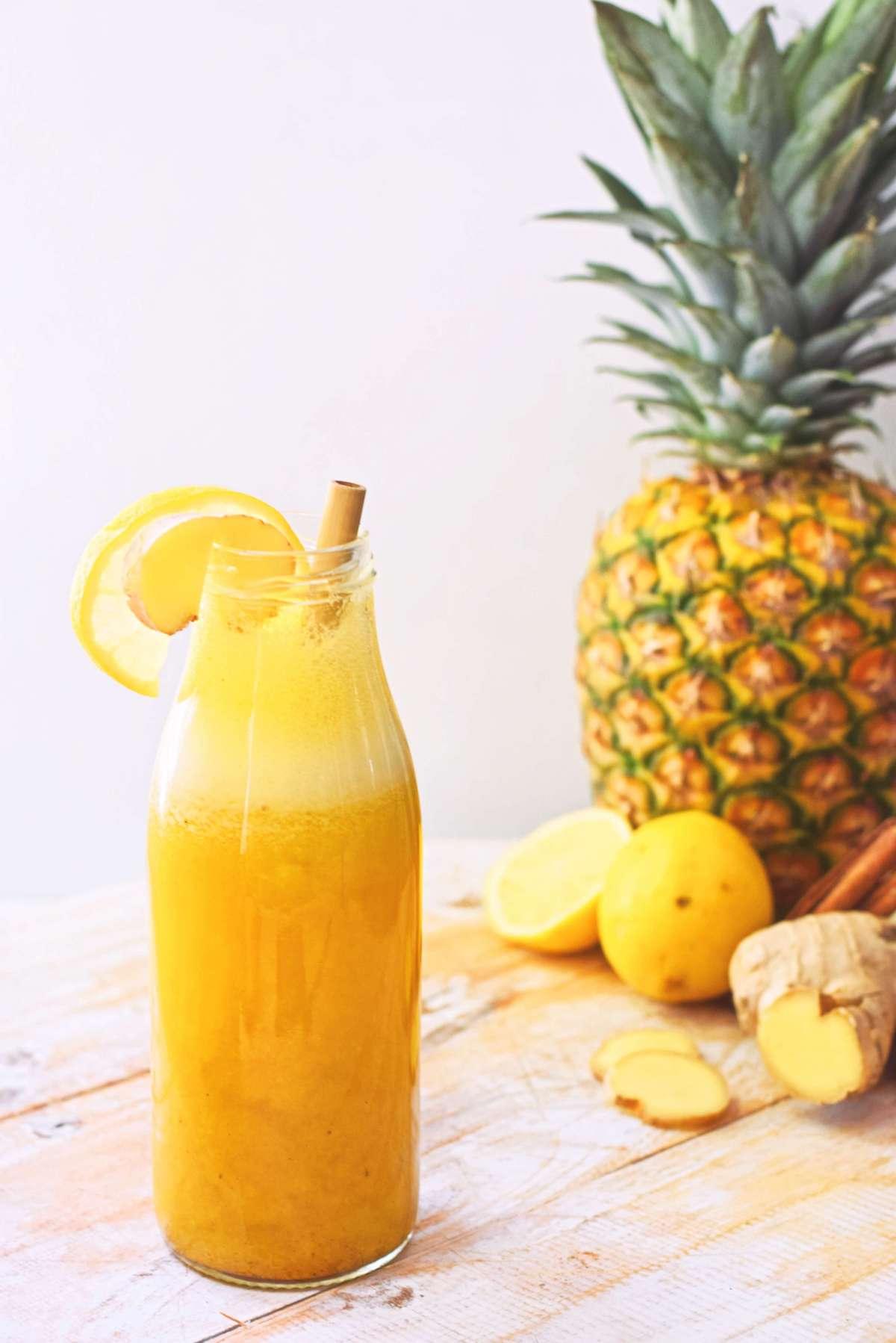 Citroen ananas smoothie   Gezond ontbijt recept
