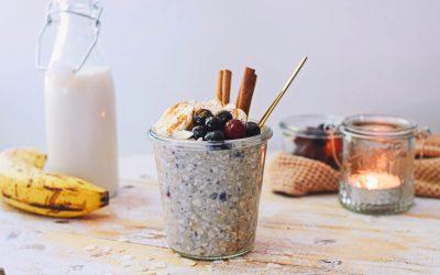Overnight oats met banaan | Gezond ontbijt recept