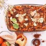Vegetarische lasagne met een zelfgemaakte saus