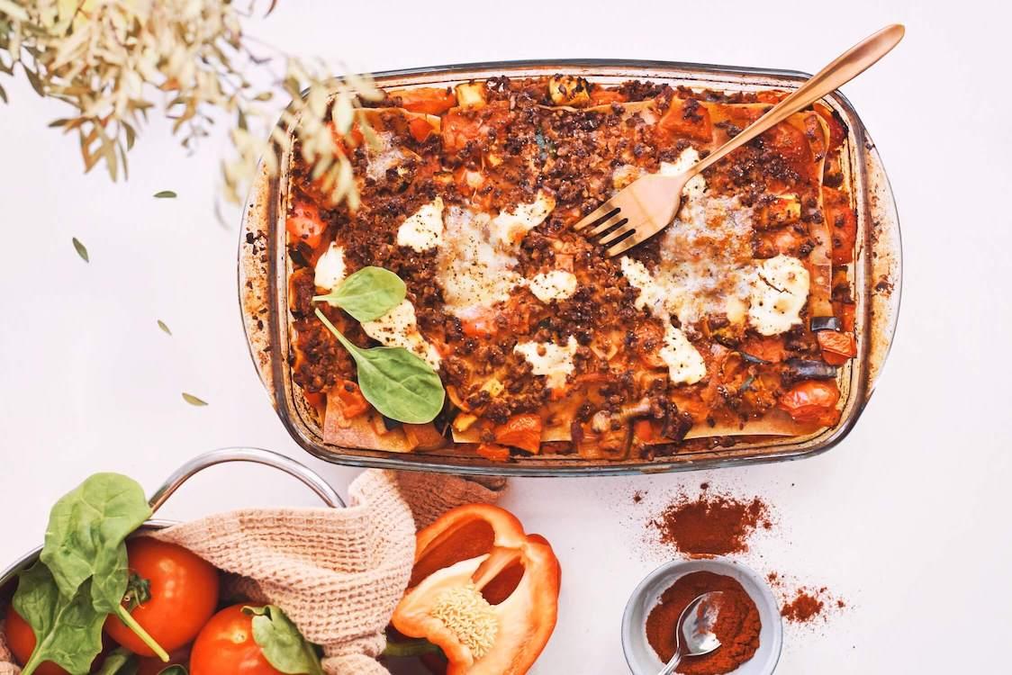 Vegetarische lasagne met een zelfgemaakte saus | Gezond recept