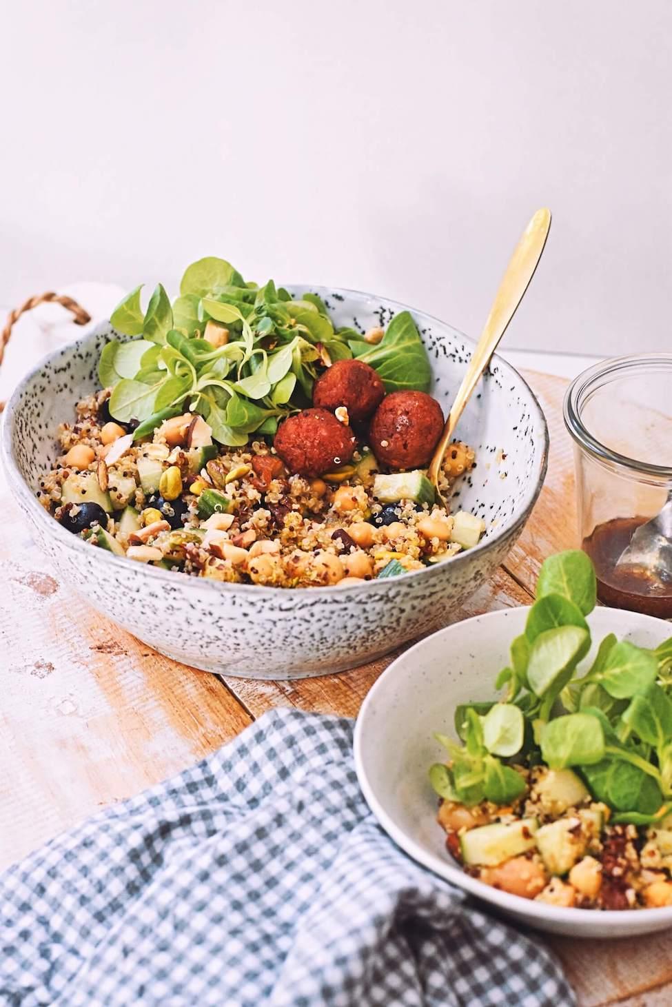 Zomerse quinoa salade met pistache nootjes | Gezond recept