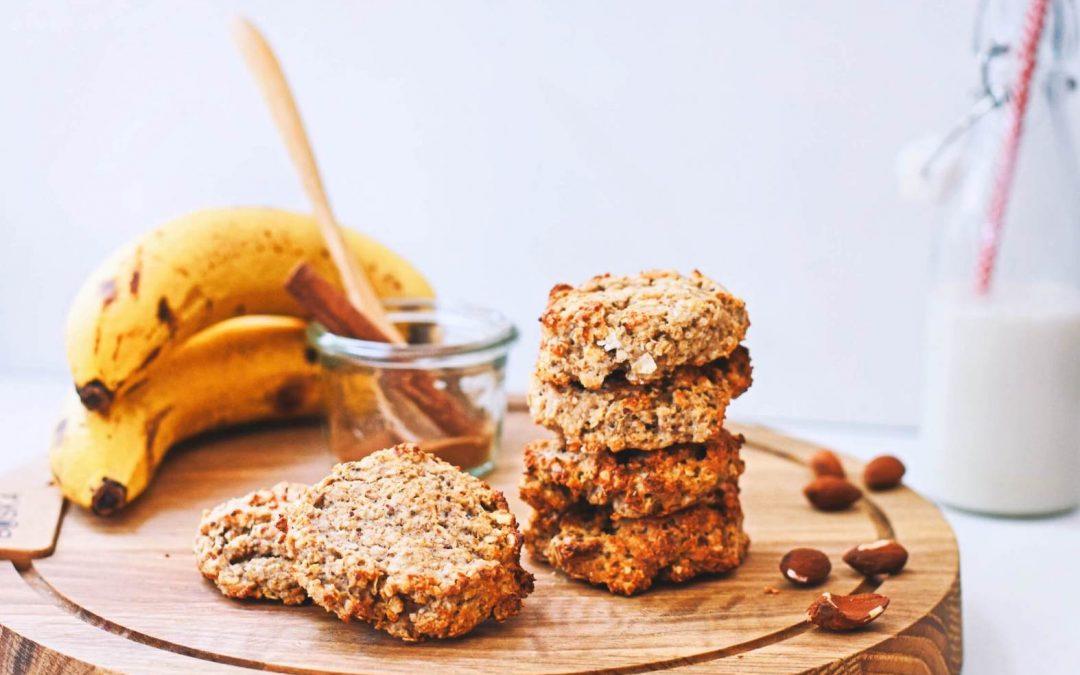 Bananenbrood koekjes | Gezonde ontbijt koekjes