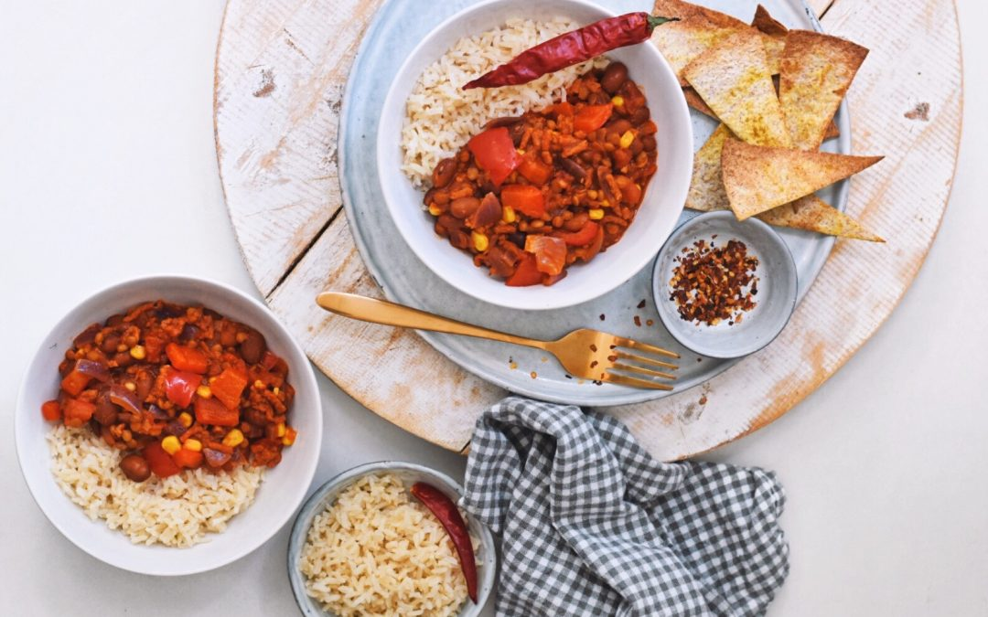 Zelfgemaakte chili sin carne | Vegan recept