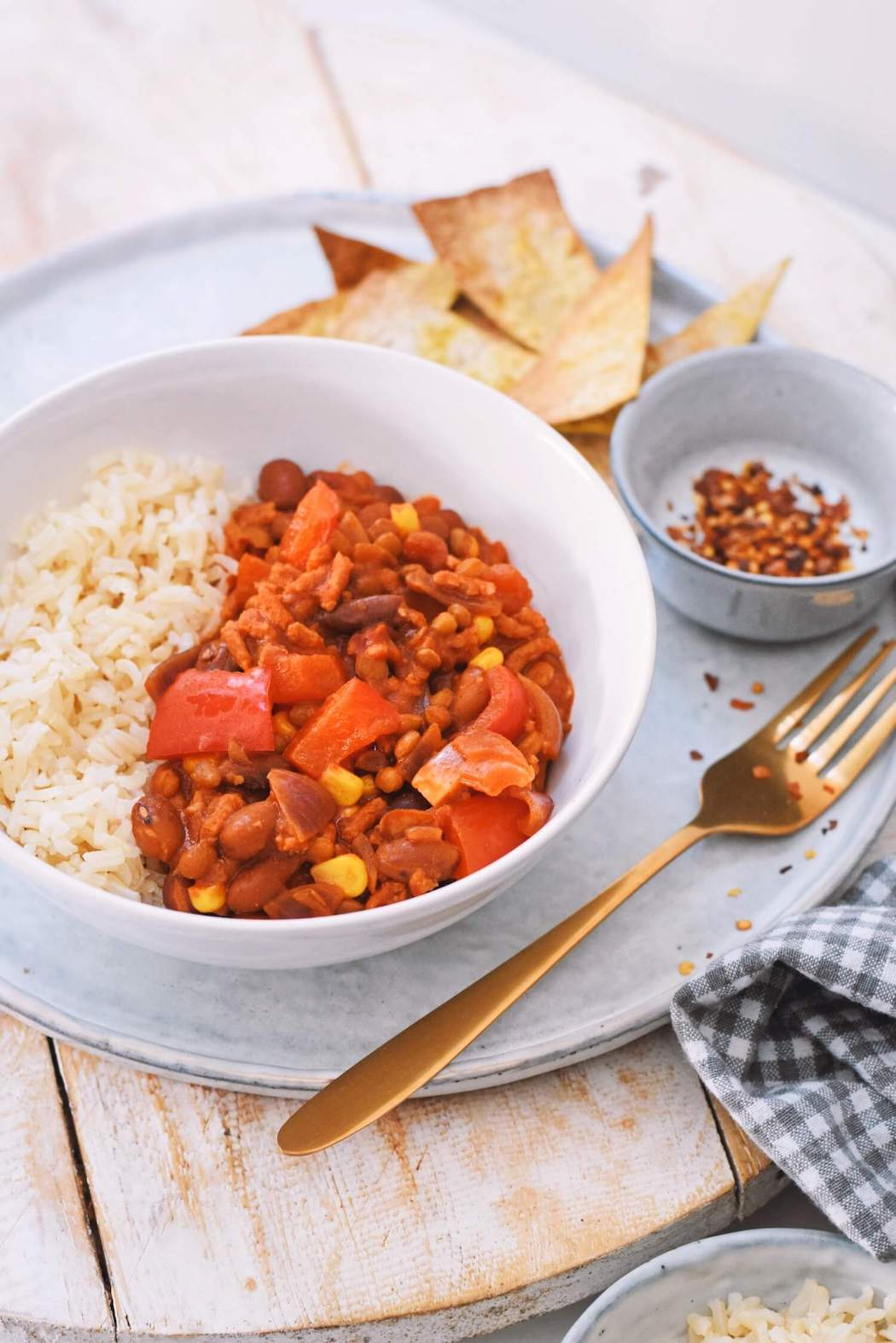 Zelfgemaakte chili sin carne recept