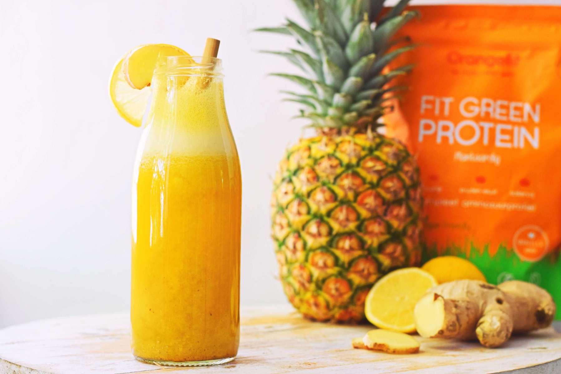 Citroen ananas smoothie | Gezond ontbijt recept