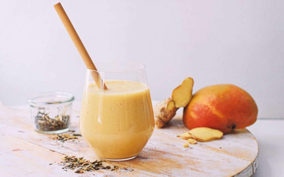 Smoothie met mango en groene thee | Zomerse smoothie