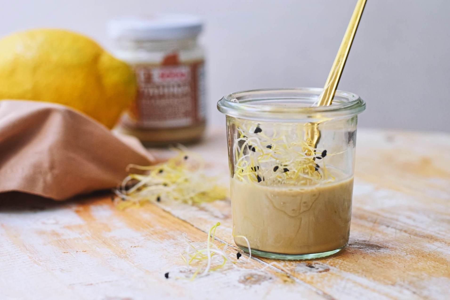 Tahini dressing met 6 ingrediënten | Lekkere salade dressing