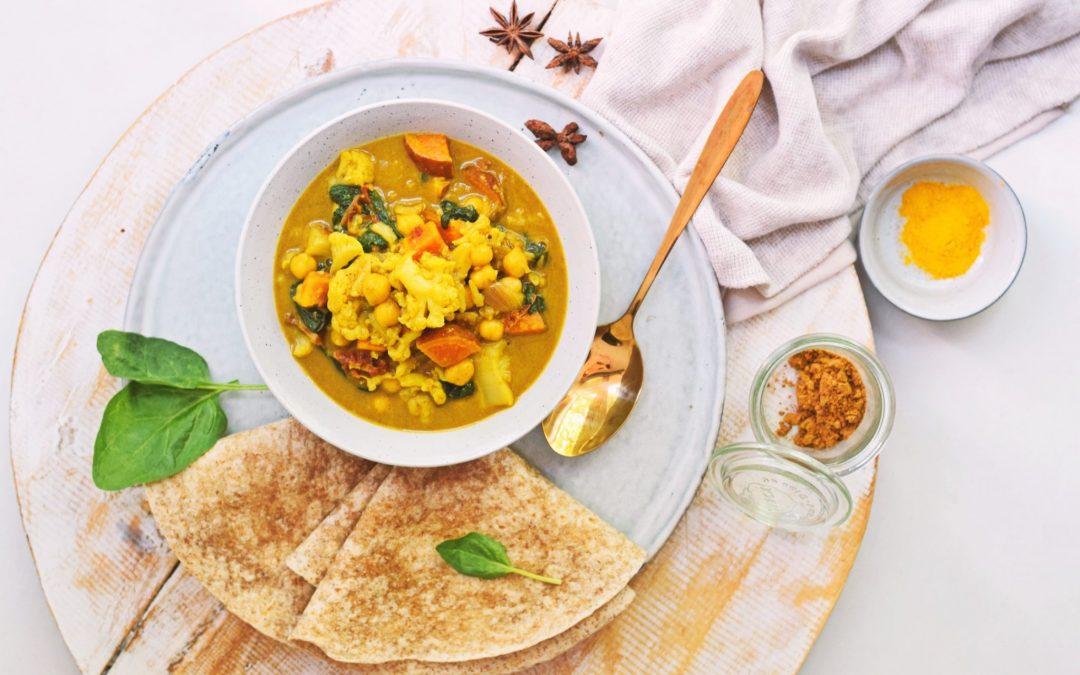 Vegetarische curry zonder zakjes | Gezonde Thaise curry