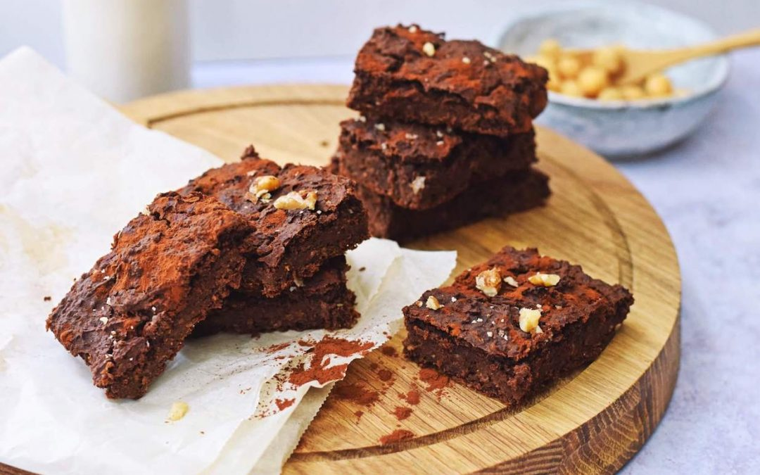 Brownies van kikkererwten   Gezonde brownies recept