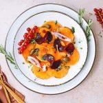 Vegetarisch recept voor kerst: pompoen carpaccio