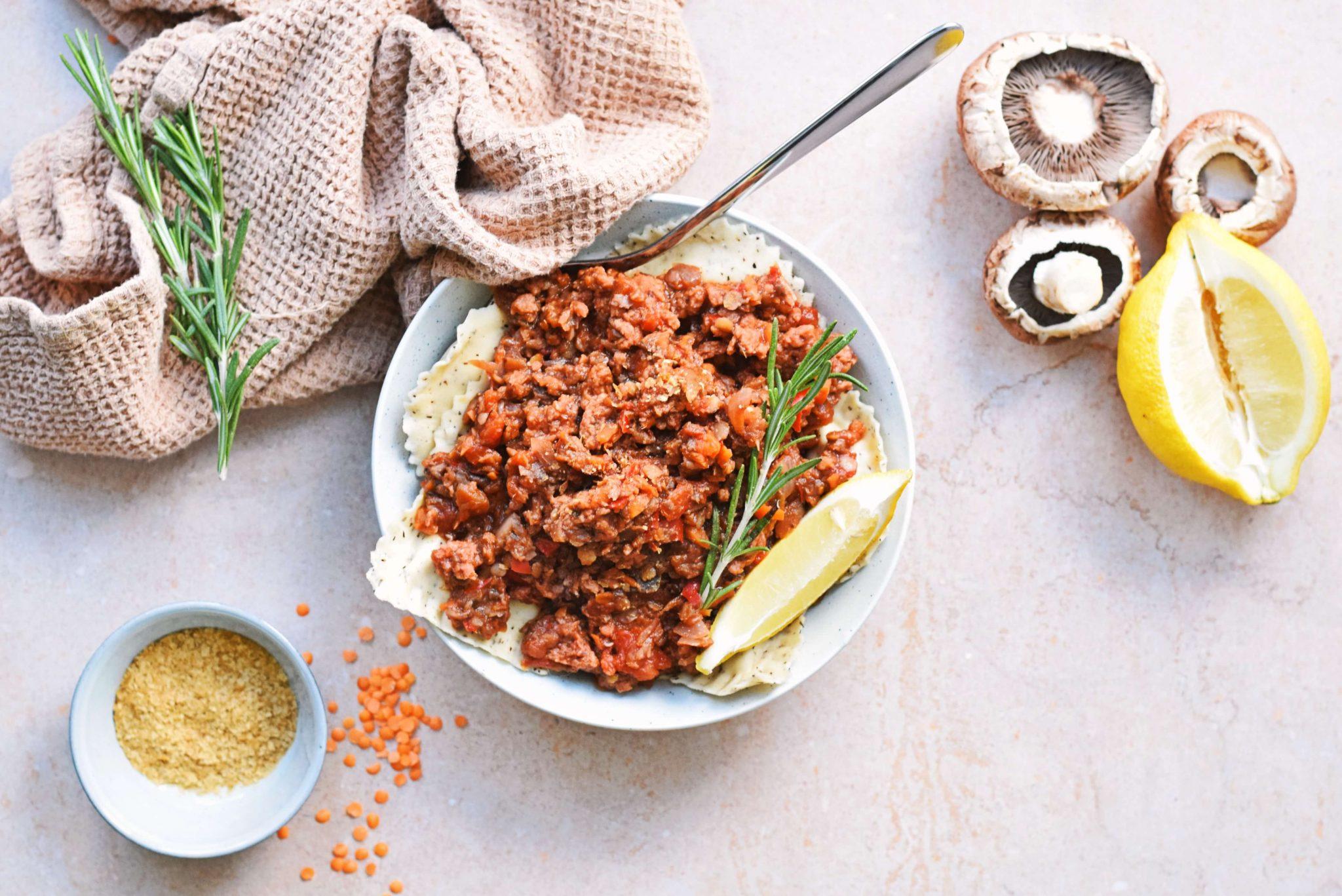 Vegan pasta bolognese recept