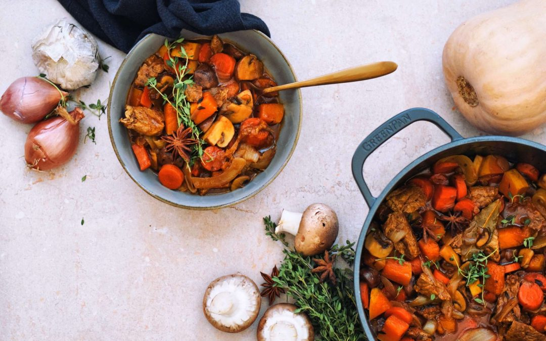 Vegan paddenstoelen stoofpot | Winter- en kerstrecept